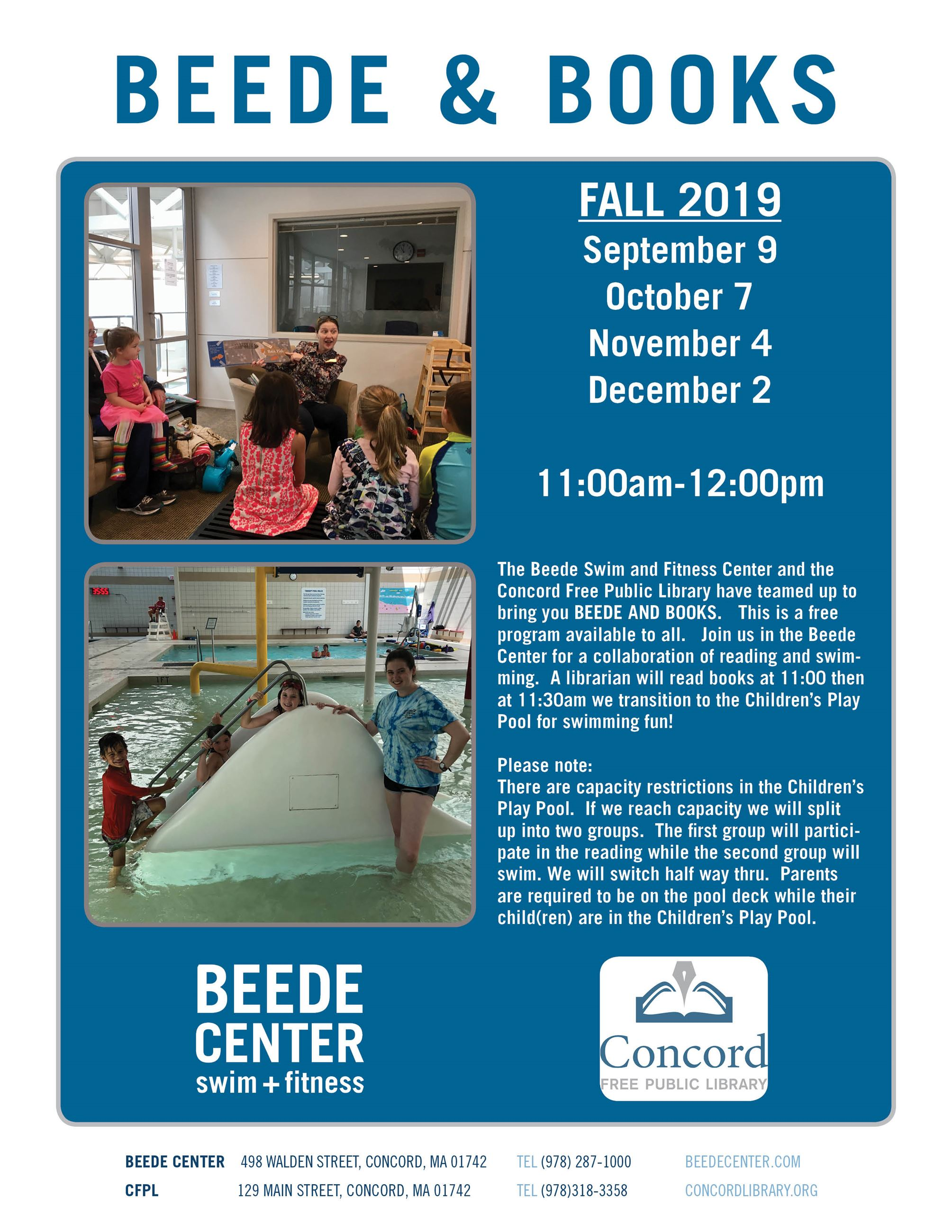 Beede and Books Flyer Fall 2019